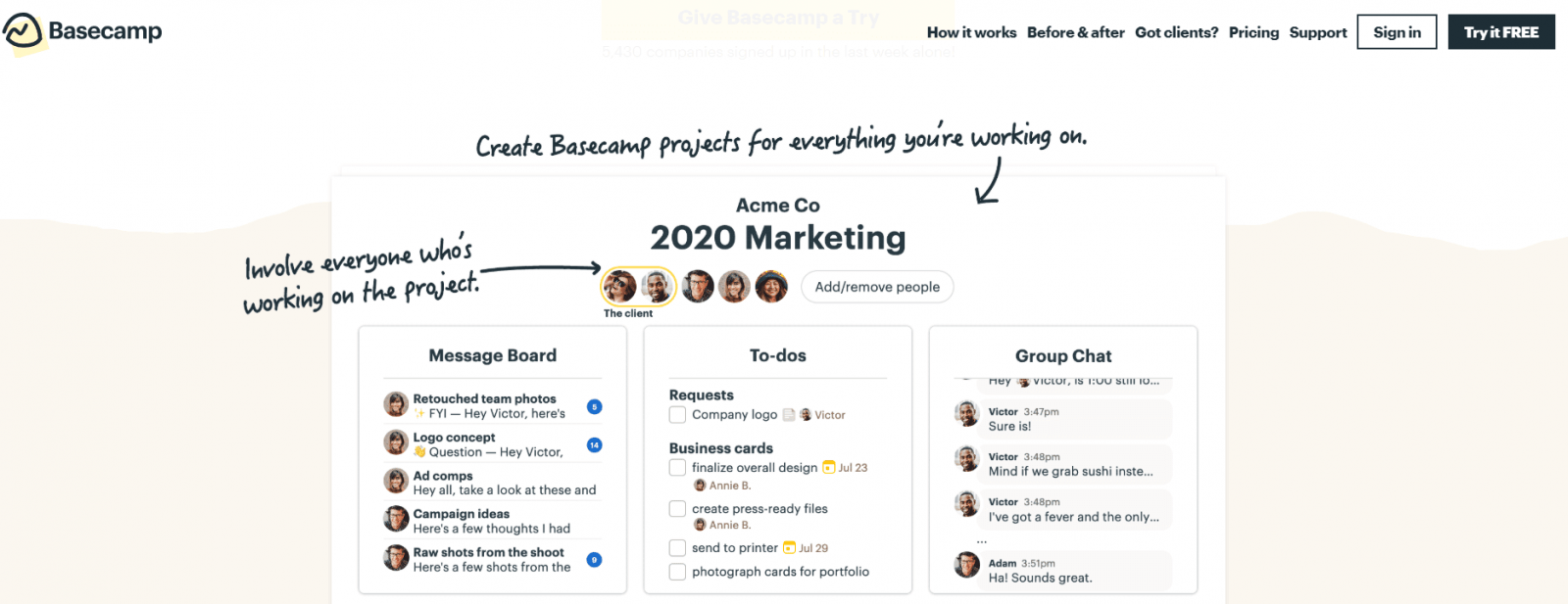 Basecamp: task management software