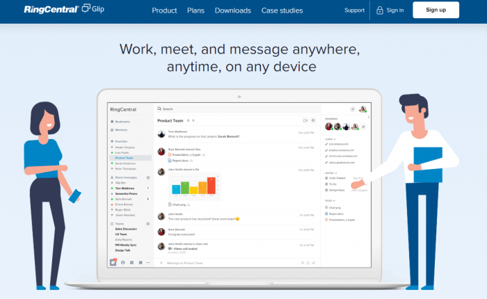 Glip: Work, meet and message anywhere, anytime, on any device