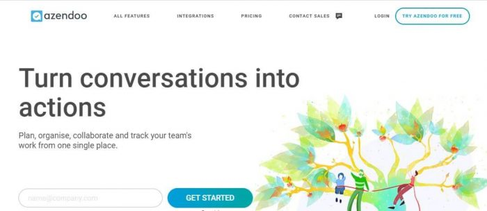 Azendoo is a project planning tool to turn conversations into actions