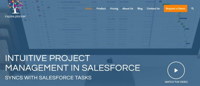 Inspire Planner is an intuitive project management tool in salesforce