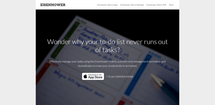 Eisenhower best to-do list apps