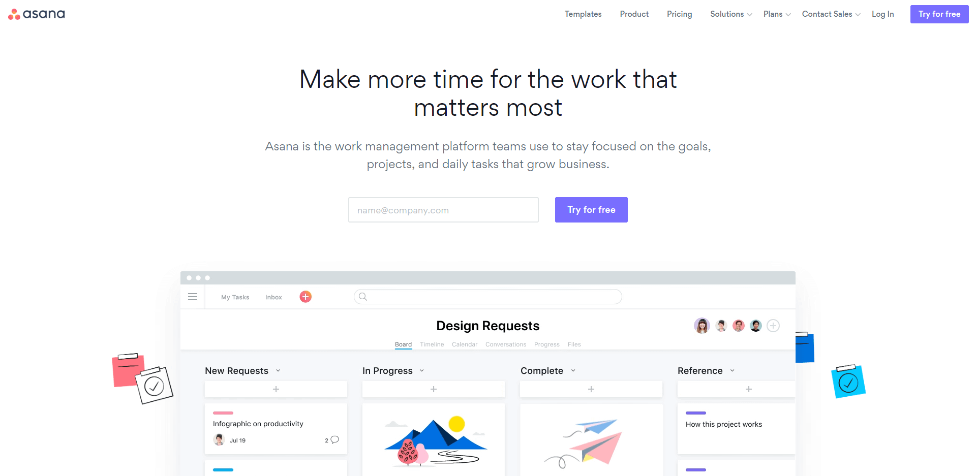 Asana makes more time for the work that matters most