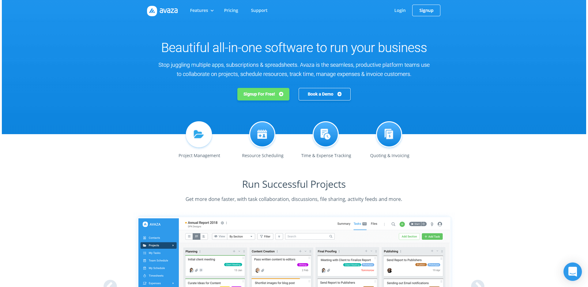 Avaza - Beautiful all-in-one software to run your business