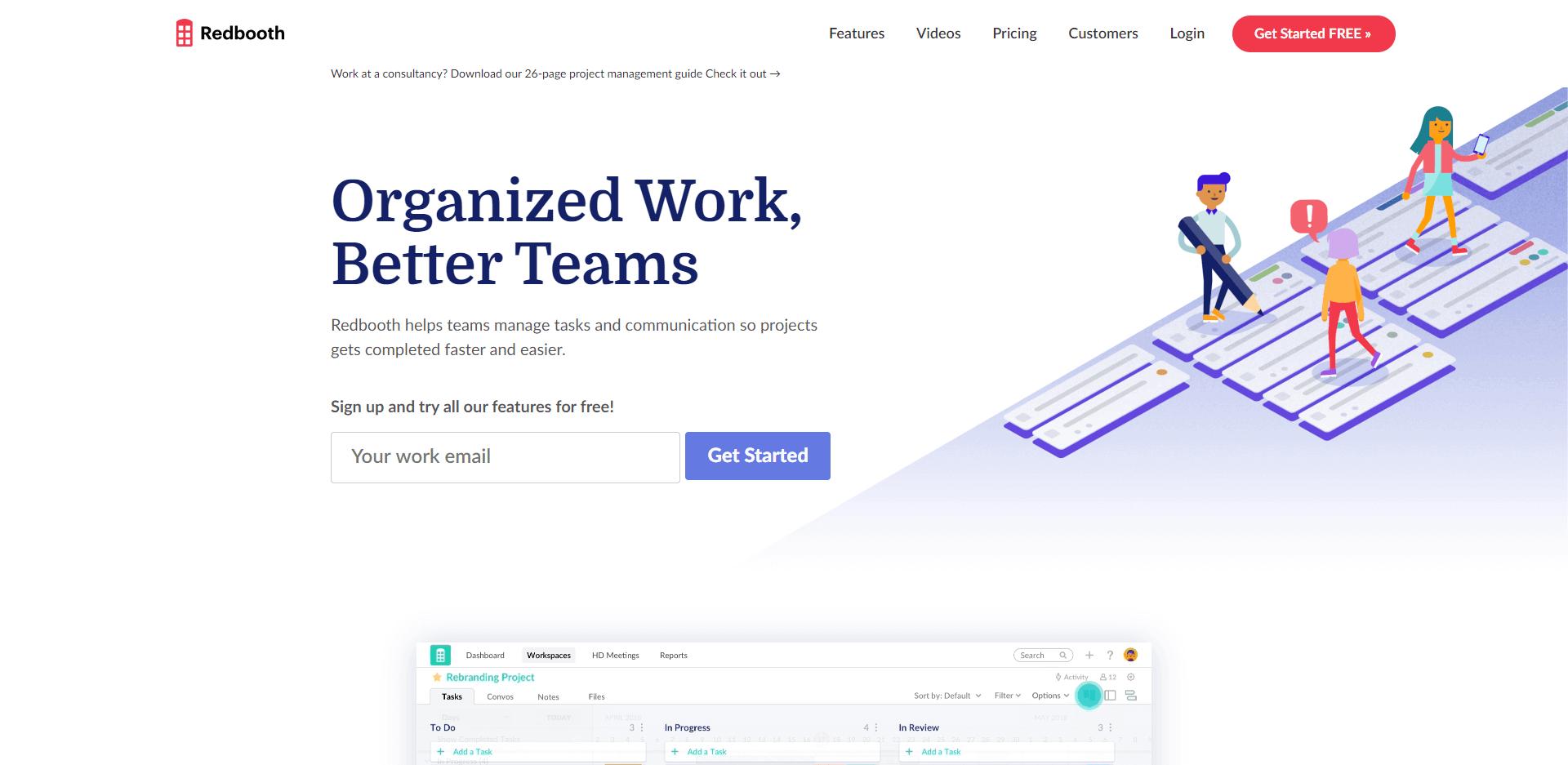 Redbooth allows organized work, better teams
