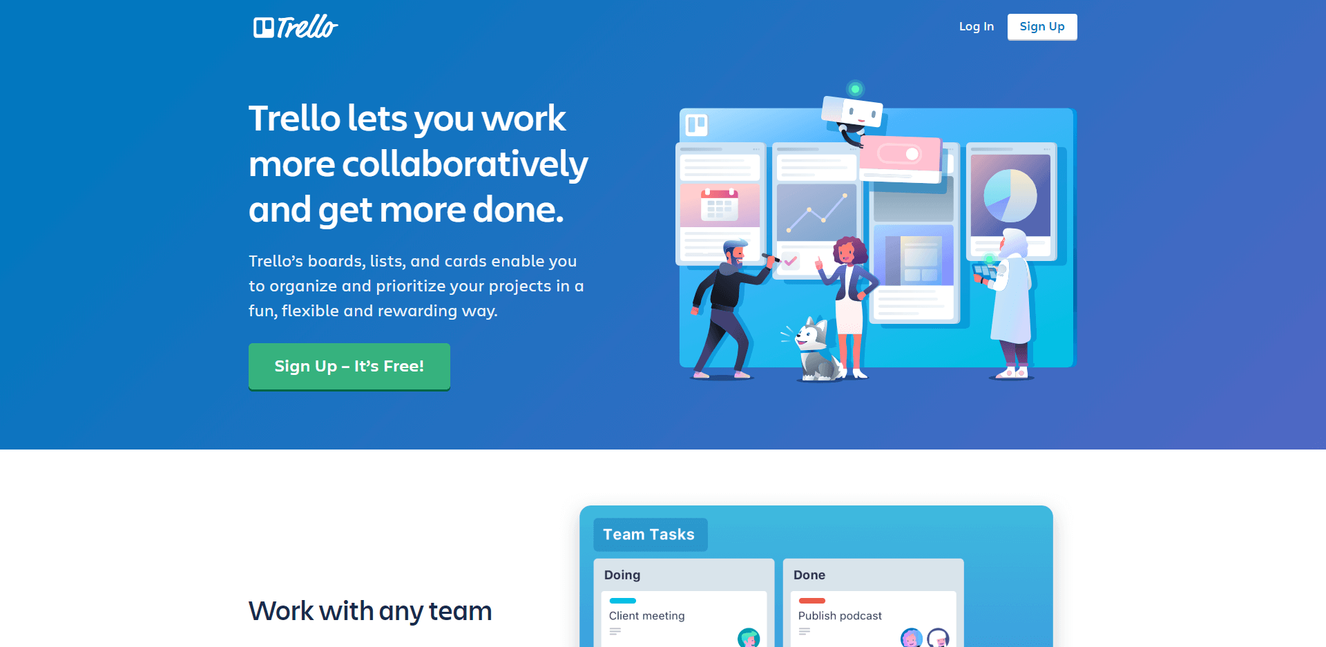 Trello lets you work more collaboratively and get more done