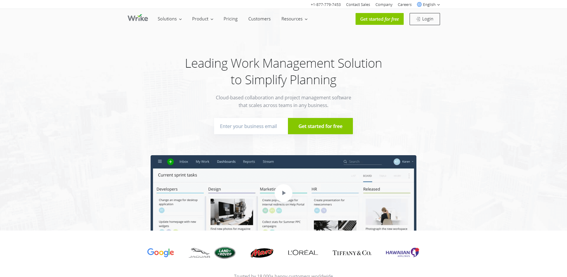Wrike is the leading work management solution to simplify planning