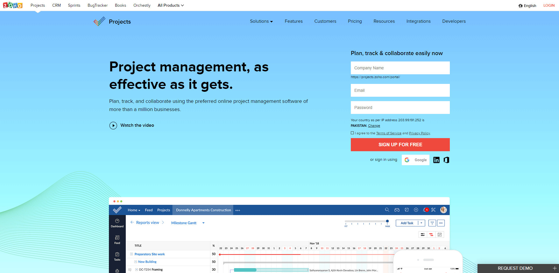 Zoho Projects is project management as effective as it gets
