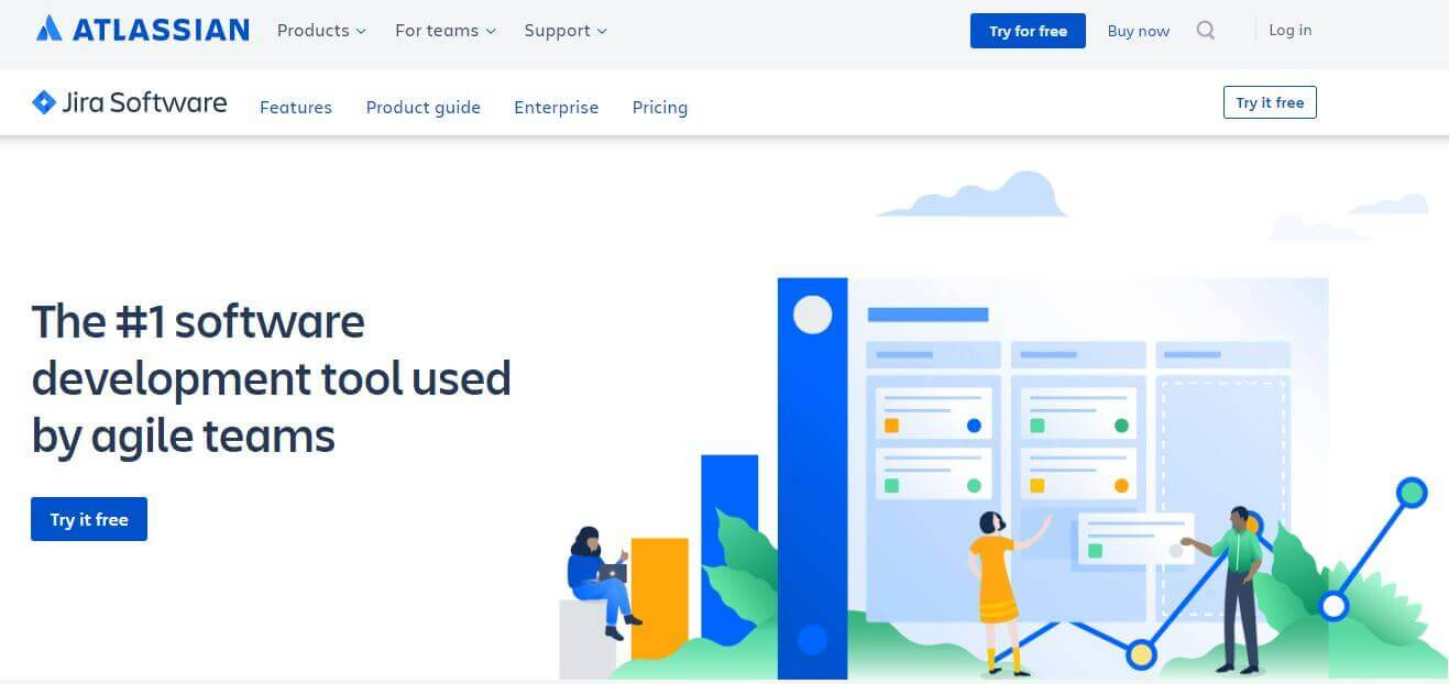 Jira: task management software used by agile teams