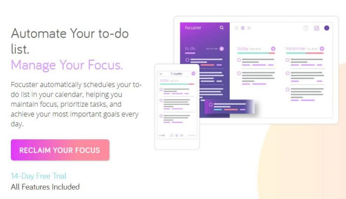 Focuster: Automate Your to-do list. Manage your Focus