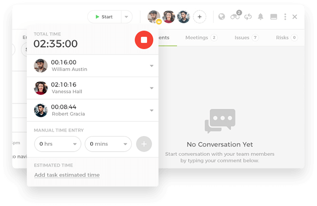 An automatic web timer to keep track
