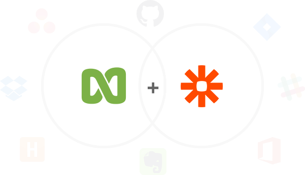 100s of integrations with Zapier