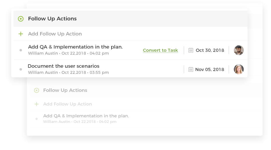 Follow-up Actions