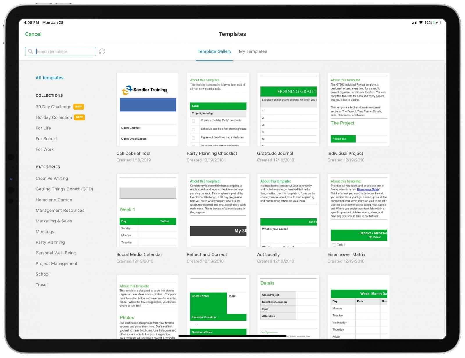 evernote - one minute manager