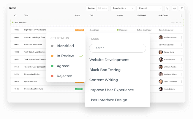 Link with Projects and Tasks