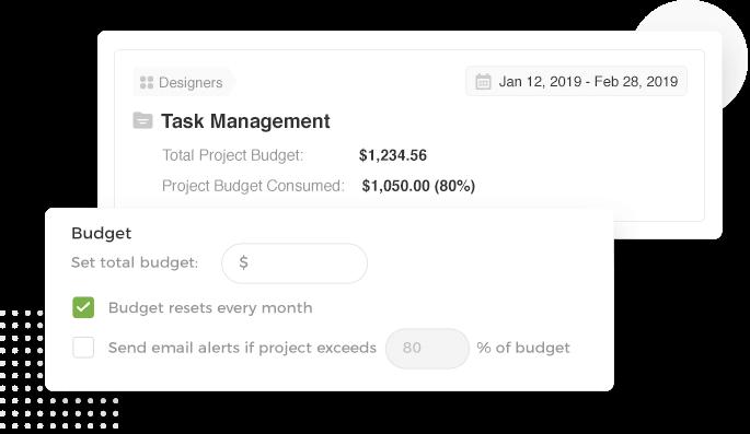 Receive budget reminders in your inbox