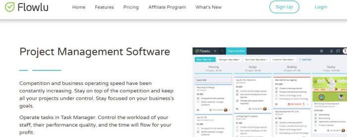 Flowlu: Project Management Software