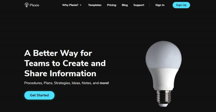 Plexie: A better Way for Teams to Create and Share Information