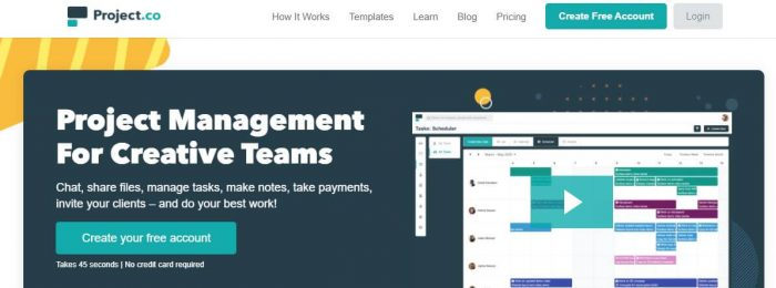 Project.co: Project Management for Creative Teams