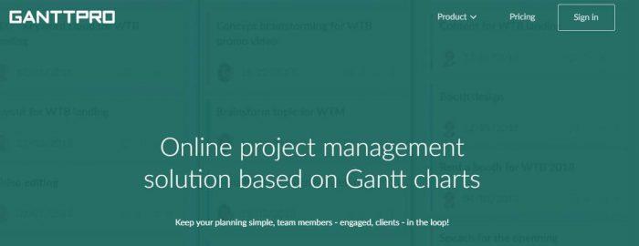 #2 free productivity apps - Ganttpro