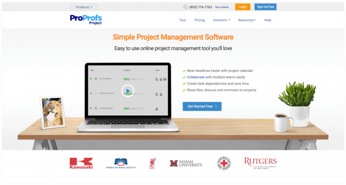 ProProfs Project: Simple task management software