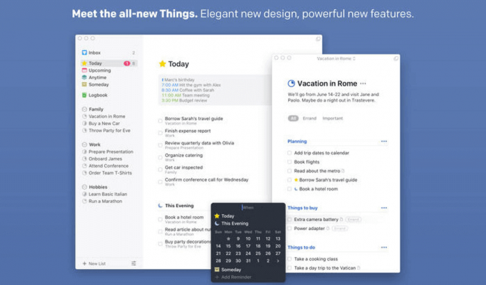 Things3: Elegant new design, powerful new features