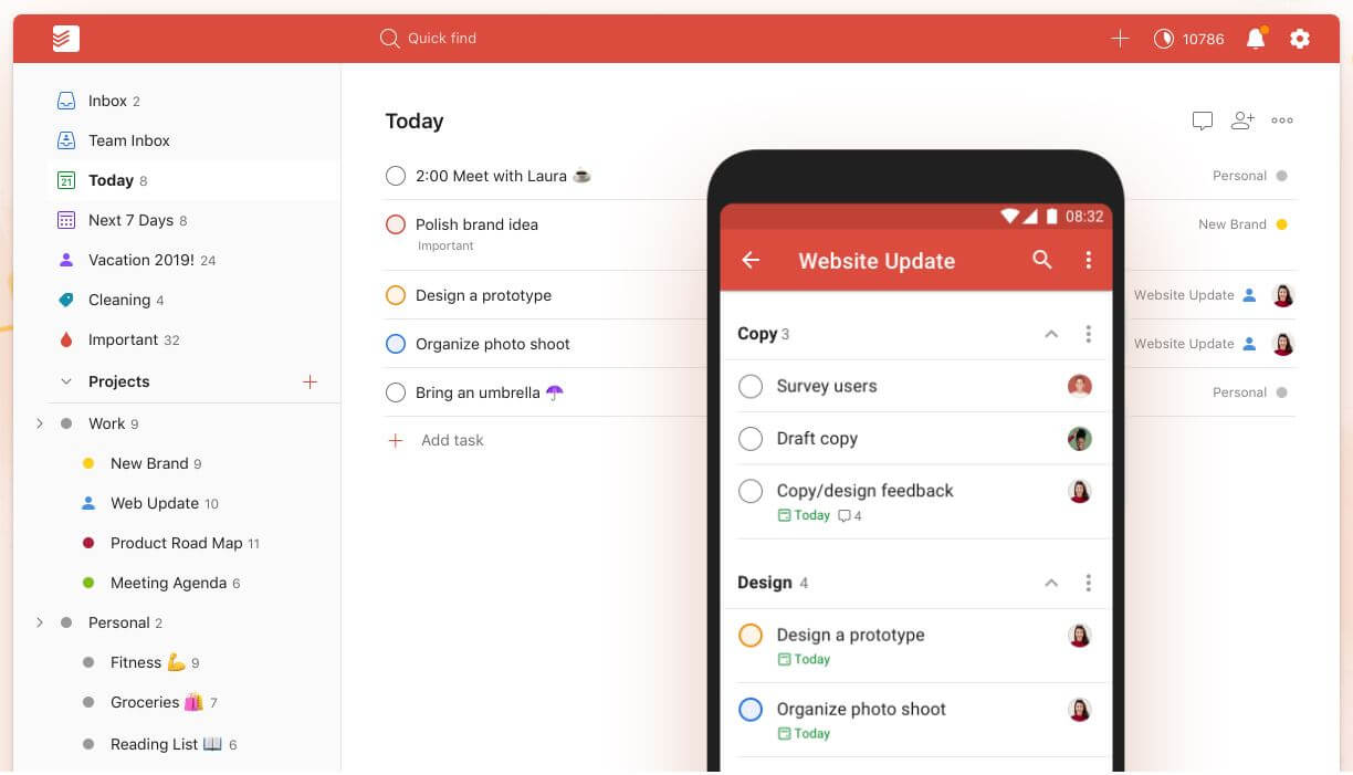 Todoist: task management software