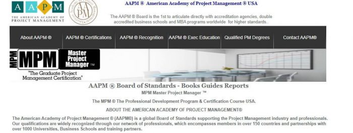 AAPM- Project Management Certification