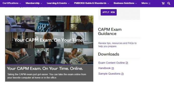 CAPM project management certification