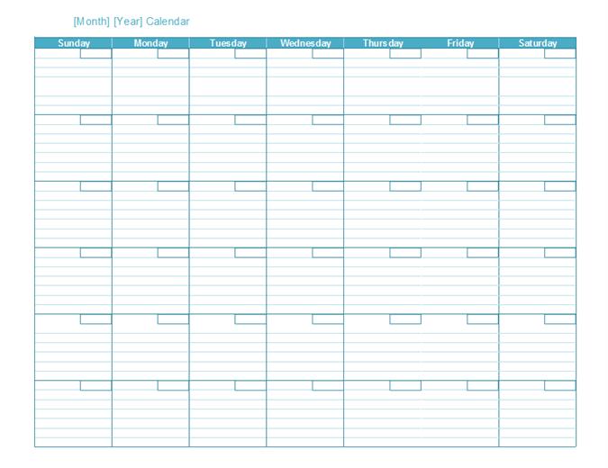 Microsoft Excel Calendar
