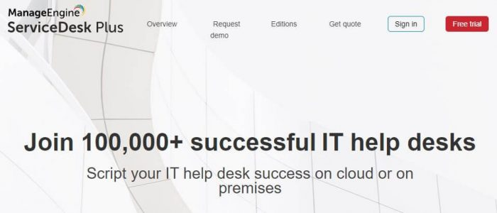 ServiceDesk Plus is number fifteen on our list of top project planning tools