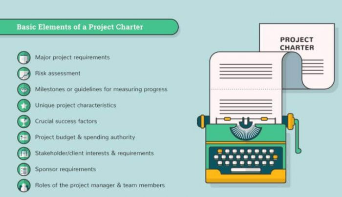 Elements of project charter