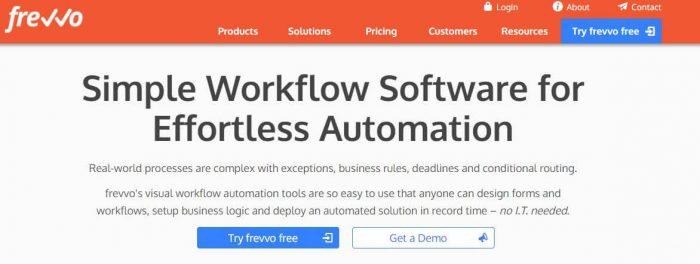 Frevvo - best business process management software