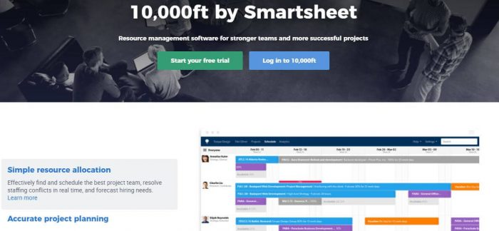 10000ft plans by Smartsheet: Resource Management software for stronger teams and more successful projects
