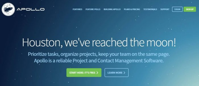 Apollo - best free project management software