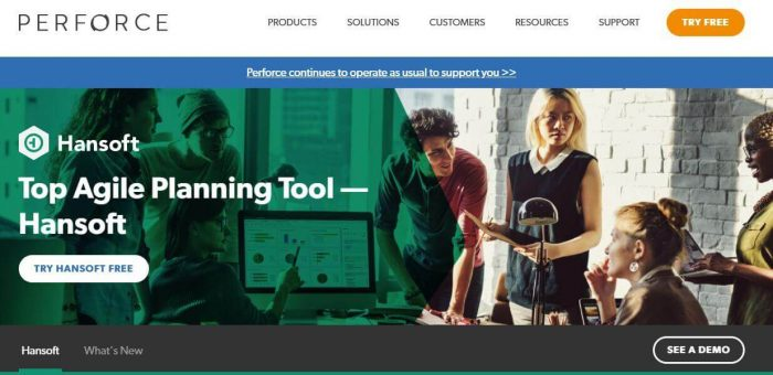 Hansoft is a top agile planning tool