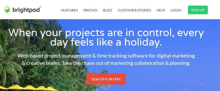 brightpod: best project management software when your projects are in control, every day feels like a holiday