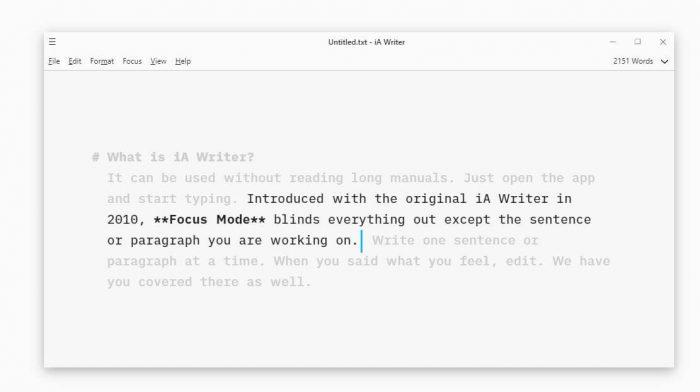 iA Writer productivity tools