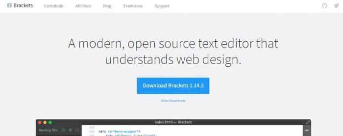 Bracket best code editor