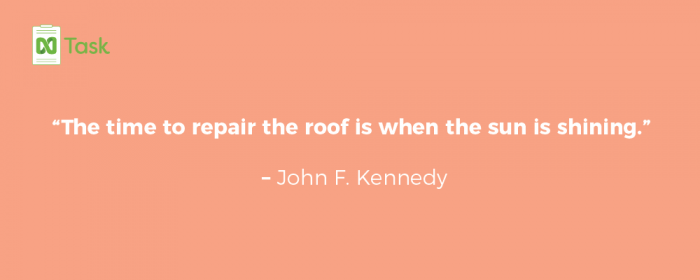 Planning quotes - John F Kennedy