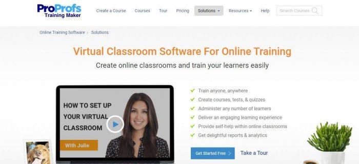 ProProfs virtual classroom