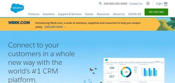 Salesforce CRM cloud