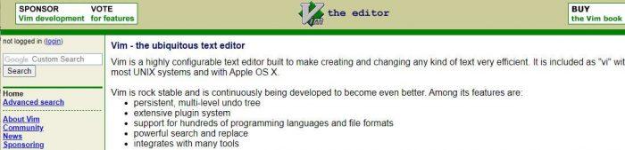 Vim best code editor