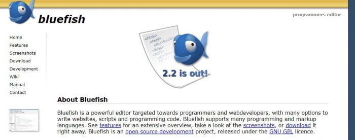 bluefish best code editor