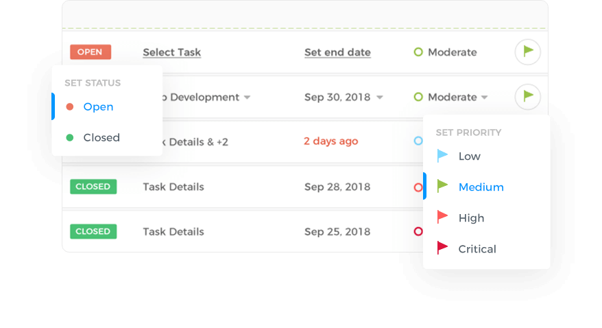 Link to Projects or Tasks