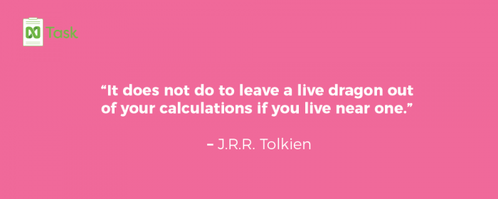 planning quote by TRR Tolkien