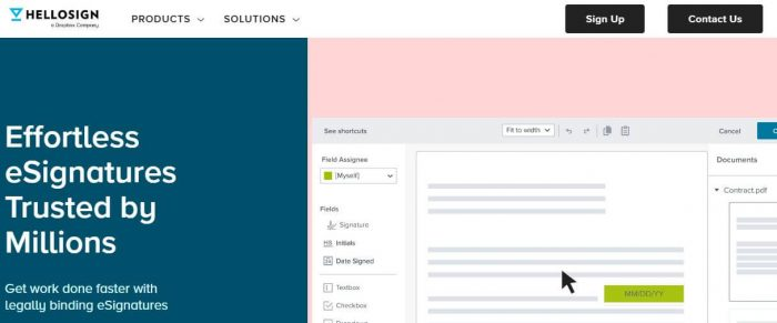HelloSign tools for small business