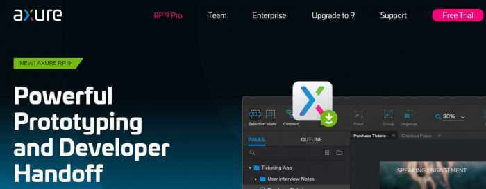 Axure prototyping and developer app