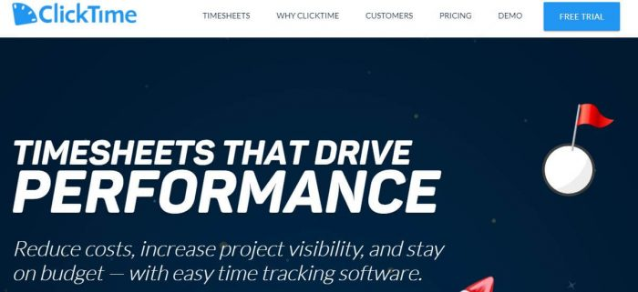 Clicktime timesheet software
