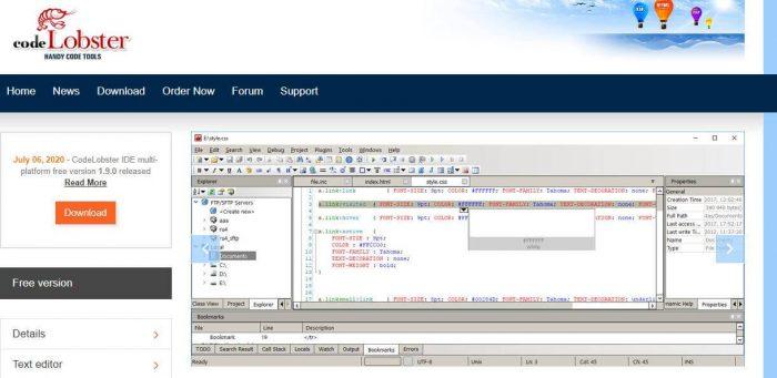 CodeLobster - modern software development tool