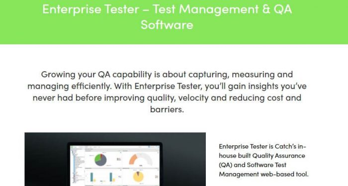 Enterprise Tester - QA testing software